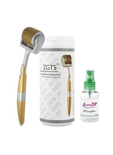 Zgts Dermaroller 1.00 mm Titanyum 192 İğneli Orijinal Gold Derma Roller Saç Yüz Vücut Renksiz